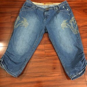 Apple Bottoms Studded Cropped Jeans Size 13/14